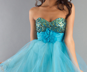 blue dresses, short dresses, and blue short dresses image