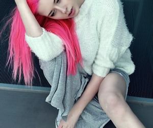 colored hair, dyed hair, and teenager image