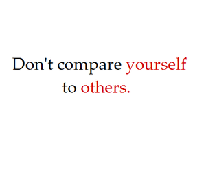 comparison, originality, and be you image