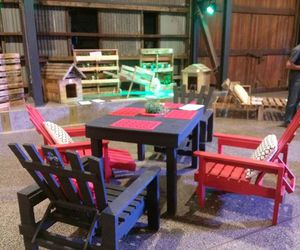 wood pallet ideas, wood pallet creations, and wood pallet chairs image