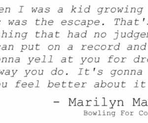 Marilyn Manson and quote image