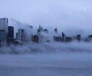 city, fog, and grunge image