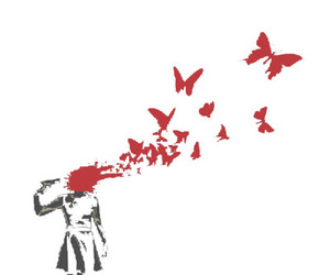 banksy buttefly suicide image