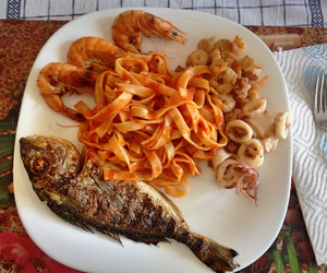 fish, foods, and lunch image
