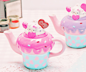 cute, hello kitty, and cup image