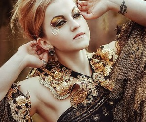 beauty, makeup, and goth image