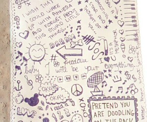 art, journal, and school image