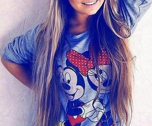 hair, smile, and mickey image