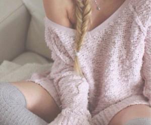 braid, cozy, and fashion image