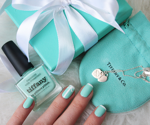 blue, gift, and nails image