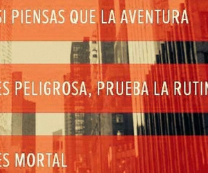 aventura, peligro, and texto image