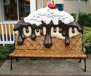 ice cream, sweet, and chair image
