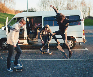 boy, skate, and vans image