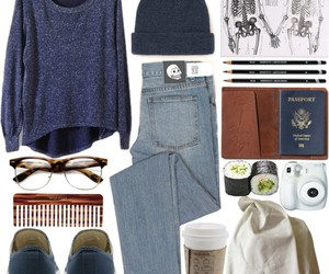 blue, Polyvore, and beanie image