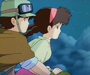 pazu, sheeta, and Castle in the Sky image