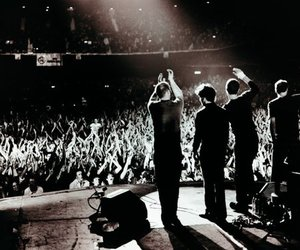 coldplay and black and white image
