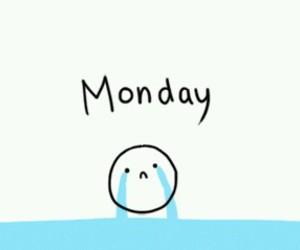 monday, school, and sad image