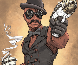 deadpool, steam, and steampunk image