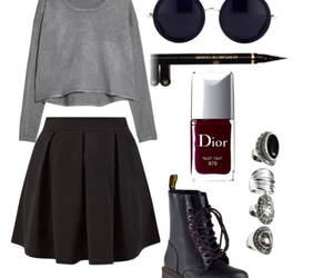 beautiful, black, and Polyvore image