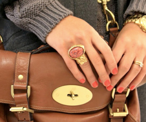 fashion, bag, and ring image