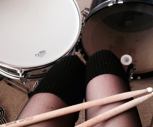 bands, drums, and girl image