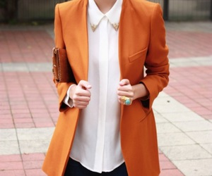 fashion, orange, and white image