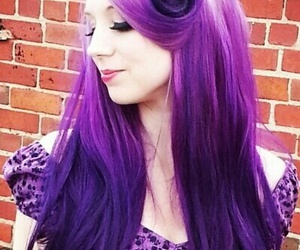 hairstyle and purple hair image