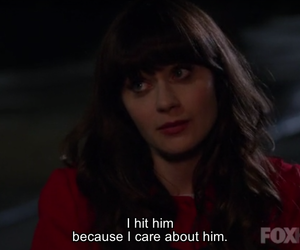 new girl, love, and quote image