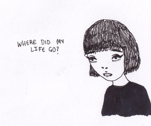 life, sad, and drawing image