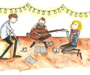 acoustic, aquarell, and art image