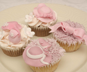 cupcakes, delicious, and pastel image