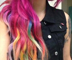 beautiful, wavey, and dyed hair image