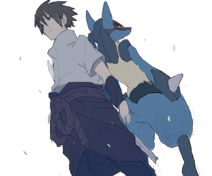 pokemon, sasuke, and lucario image