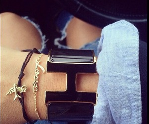 bracelet, luxury, and hermes image