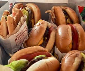 food, burger, and yummy image