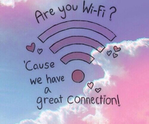 wifi, cute, and connection image