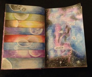 colorful, drawing, and journal image