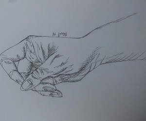 black&white, sketch, and hand image