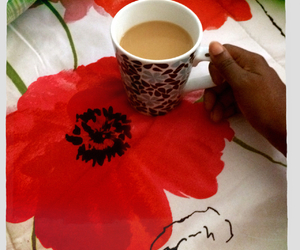 coffee, flowers, and mugs image