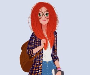 girl, lily evans, and glasses image