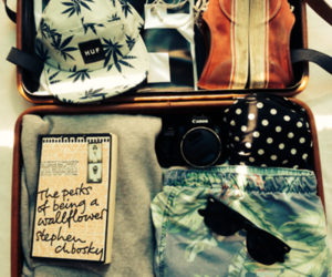 travel, clothes, and book image