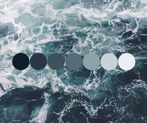 sea, water, and shades of blue image