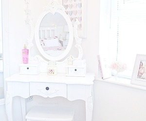 white, room, and pink image