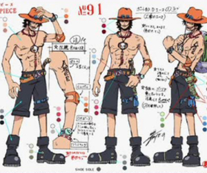 ace, portgas d ace, and one piece image