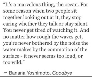 goodbye, ocean, and quote image
