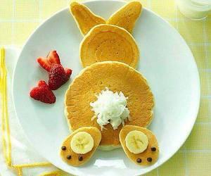 food, pancakes, and rabbit image