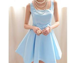 dress, blue, and fashion image