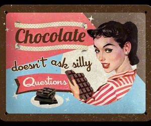 chocolate, retro, and Pin Up image