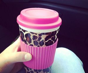 girly, pink, and leopard image