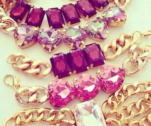 gold, pink, and accessories image